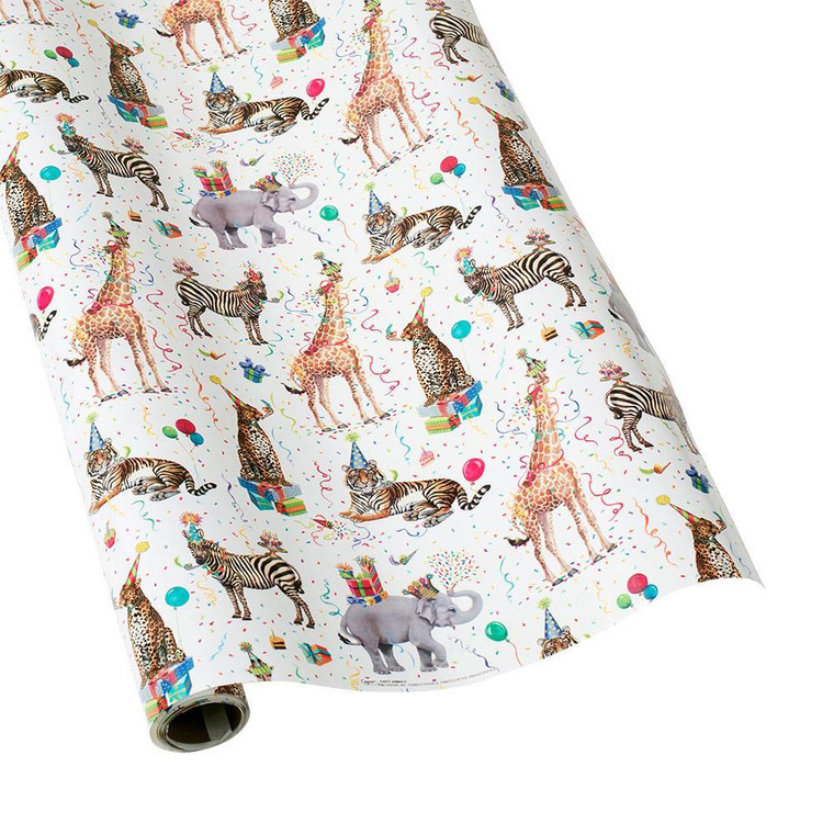 """Party Animals Gift Wrapping Paper - 30"""" x 5' Roll"""