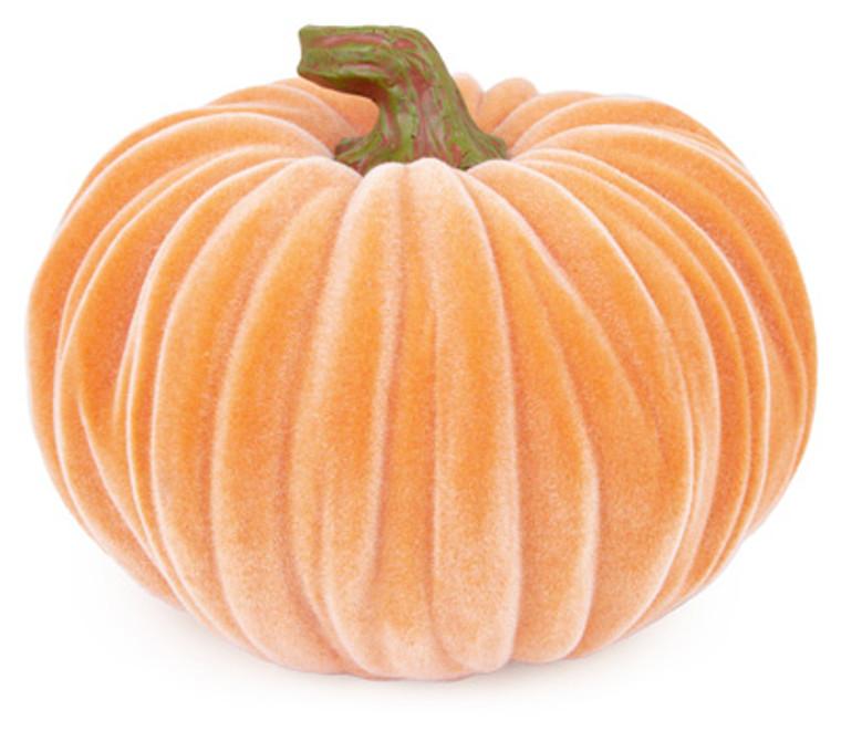 Large Velvet Pumpkin - Orange