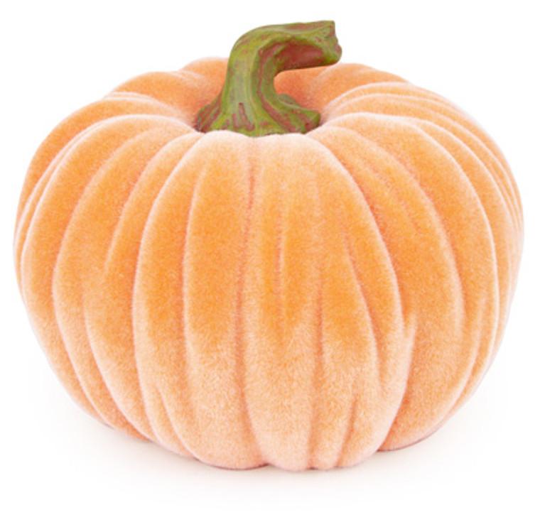 Medium Velvet Pumpkin- Orange