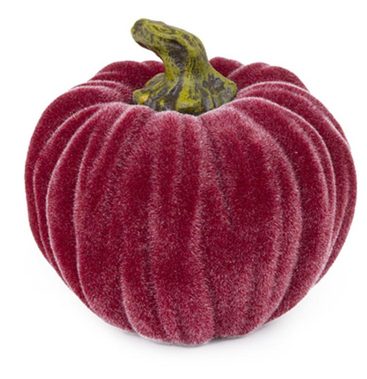 Small Velvet Pumpkin - Burgundy