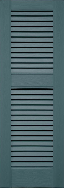 Straight Top Vinyl Louver Shutters By Mid America