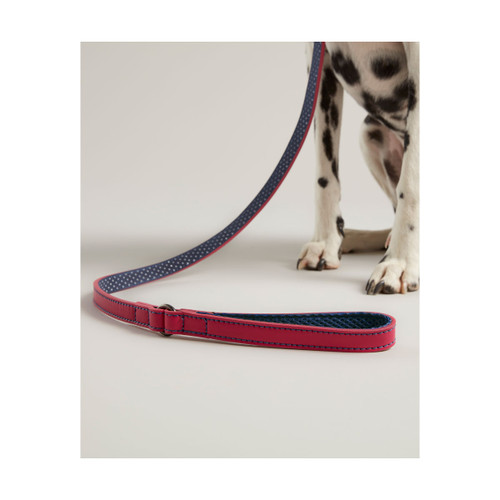 Joules Leather Dog Lead - Pink