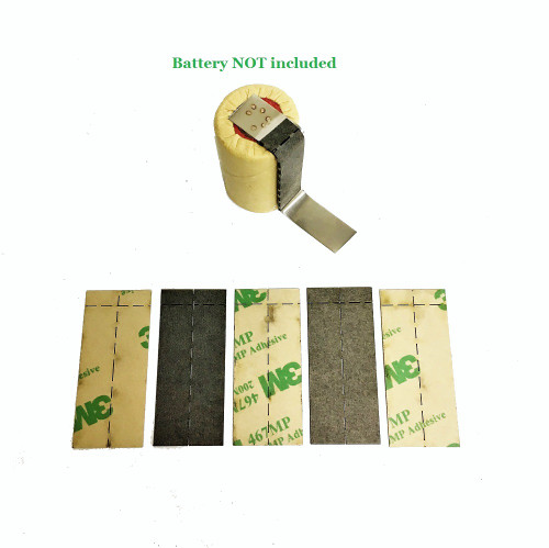5pc Tab Insulator set for battery pack assembly | Fishpaper 3M 467M adhesive