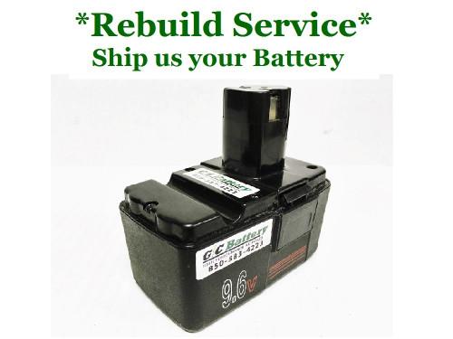 Craftsman REBUILD Service for 9.6V Model 976965-001