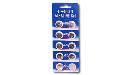 10 Tenergy 1.5V 120mAh AG13/LR44 Alkaline Button Cells | 1 Card
