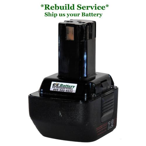 Craftsman REBUILD Service for 7.2V  Model 315.111060
