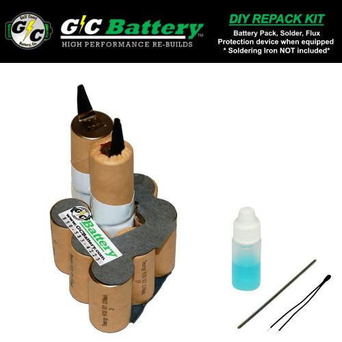 12V 2.2Ah NiCd DIY Repack Kit ONLY FITS: Pod Model CTB312