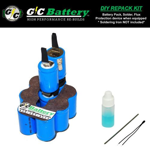 12V 1.3Ah NiCd DIY Repack Kit ONLY FITS: Pod Model CTB3124