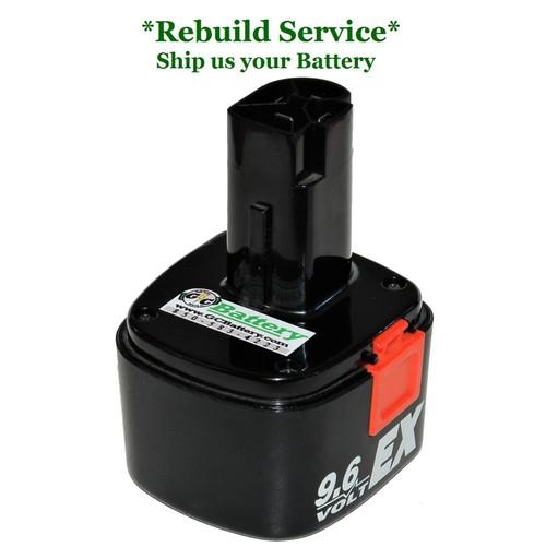 Craftsman REBUILD Service for 9.6V Model 1323424
