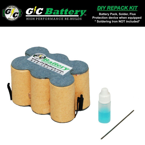 7.2V Model 130269013  DIY Repack Kit (contact not included)