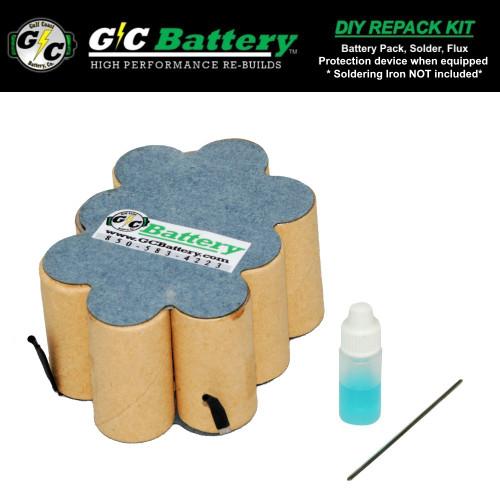 12V 2.2Ah NiCd DIY Repack Kit Fits: 130269012
