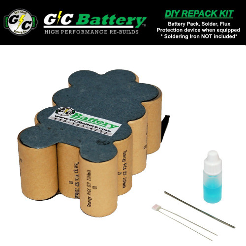 14.4V 2.2Ah NiCd MPT144B DIY Repack Kit (contact not included)