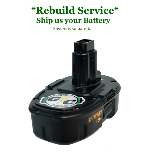 DeWALT REBUILD Service for 18V Model DC9098 Type 1, DC9099 (compact cells)