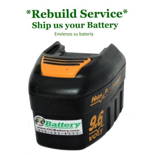 Craftsman REBUILD Service for 9.6V Model 315.110300