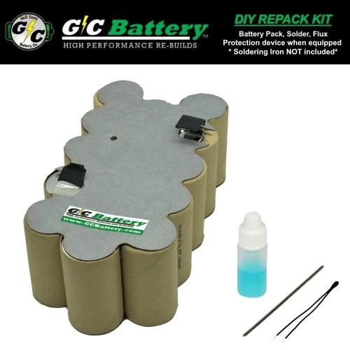 18V  2.2Ah NiCd DIY REPACK Kit Fits: 130254003, 130254007, 130254011
