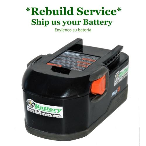 RIDGID REBUILD Service for 18V Standard Model 130254003, 130254007, 130254011