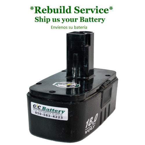 Craftsman REBUILD Service for 18V Model: 130260001