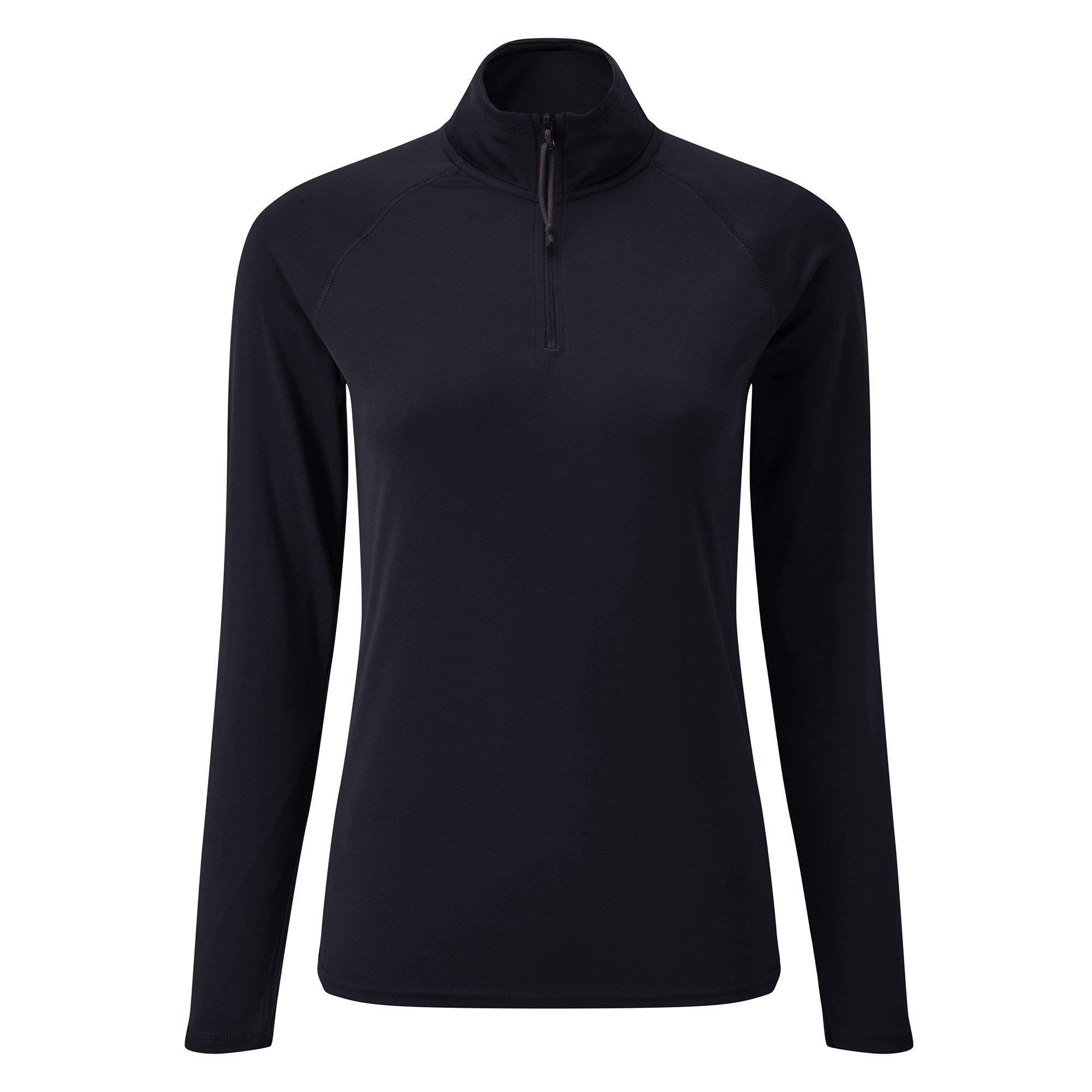 Women's UV Tec Zip Tee - Long Sleeve - UV009W-NAV06-1.jpg