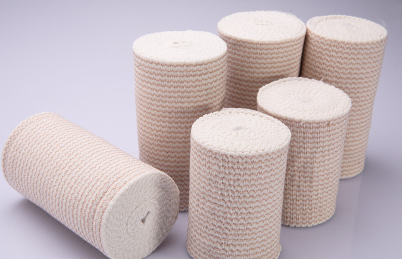 6 Inch Premium Weave Elastic Bandages, 11 Yards Stretched, Self Closure