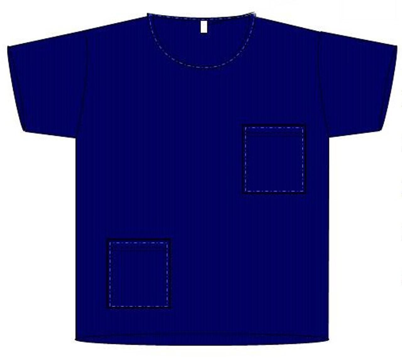 "Scrub Shirt, Navy Blue, Large 29.5"""