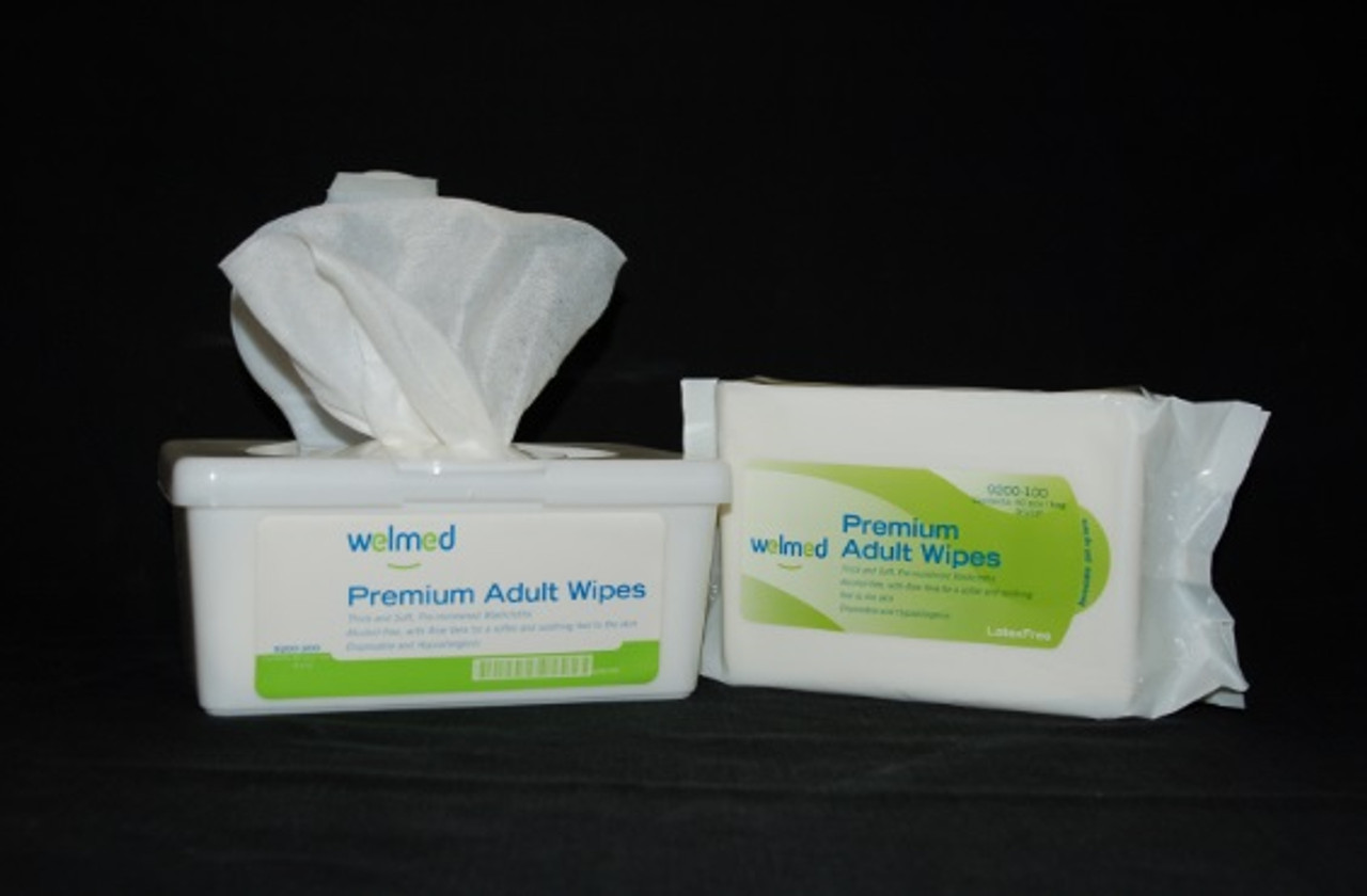 Adult Wipes, Soft Pack with Peel & Reseal Lid