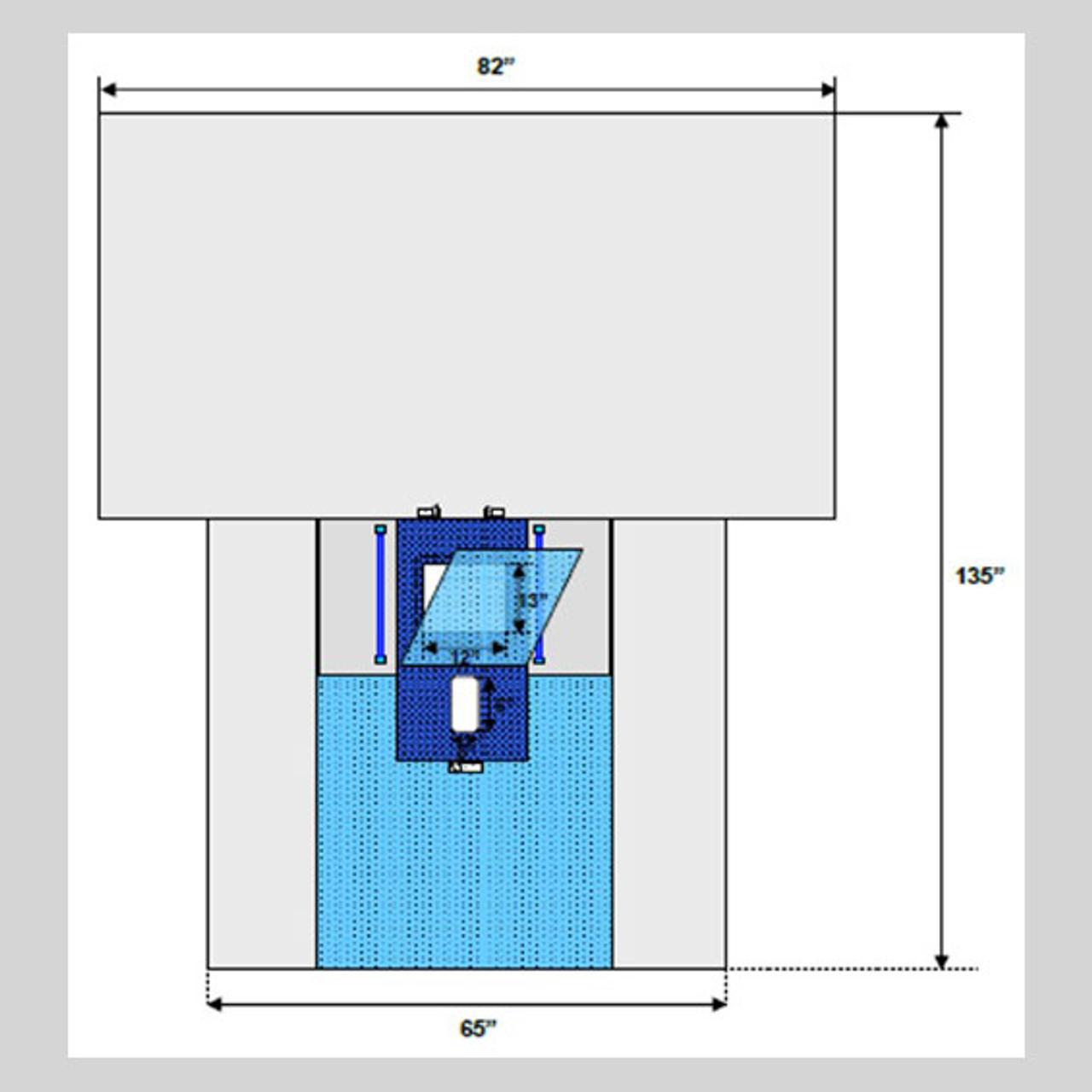 "Laparoscopic/Pelviscopy Abdominal Drape, 82"" x 65"" x 135"", Robotic Friendly"