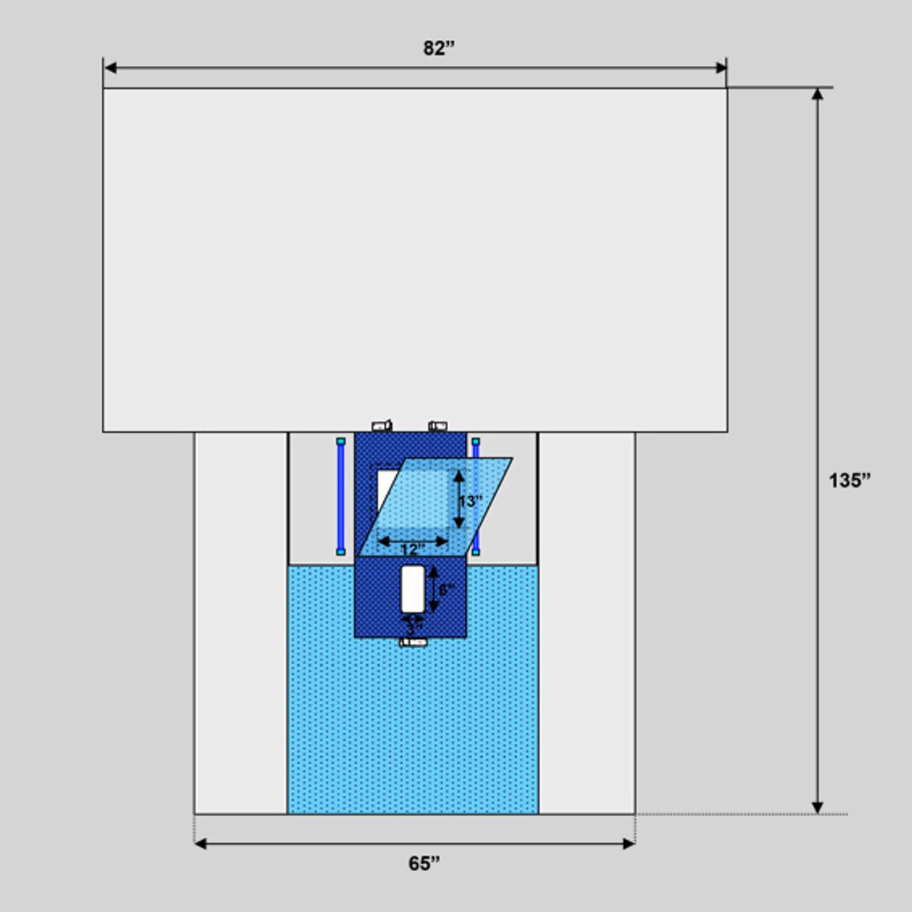 "Laparoscopic/Pelviscopy Abdominal Drape, 82"" x 135"", Robotic Friendly, Sterile"