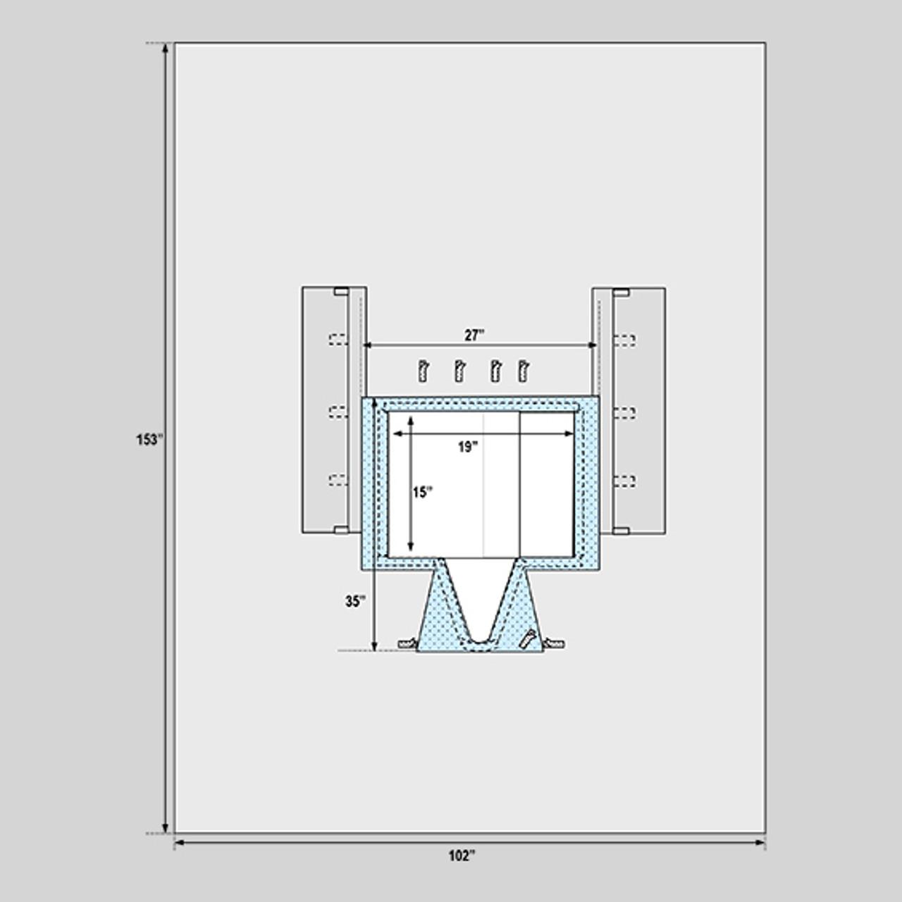 """Robotic Prostatectomy Drape, 102"""" x 153"""""""
