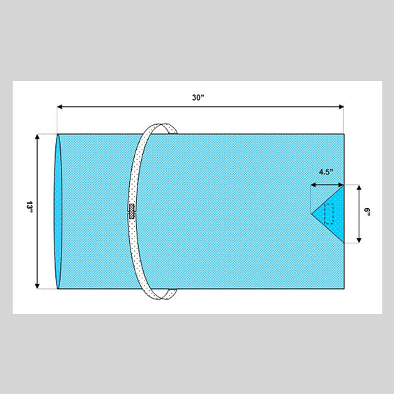 """Arm Board Cover, 30"""" x 13"""", Impervious with Arm Strap"""