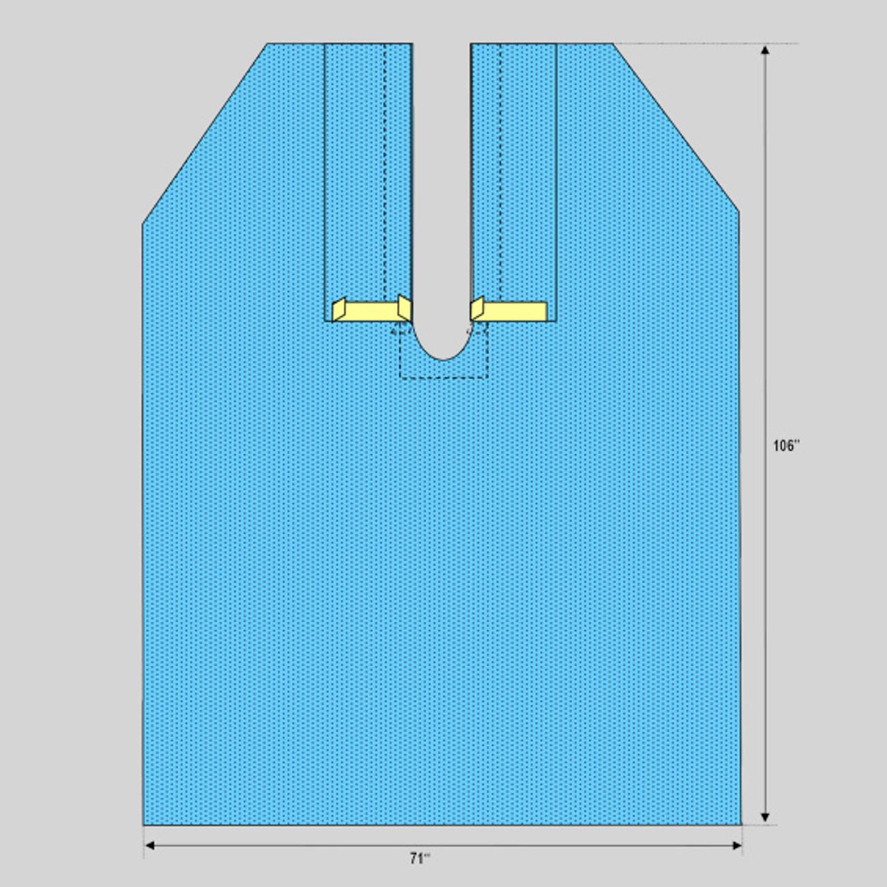 "Ophthalmic Split Drape, 71"" x 106"