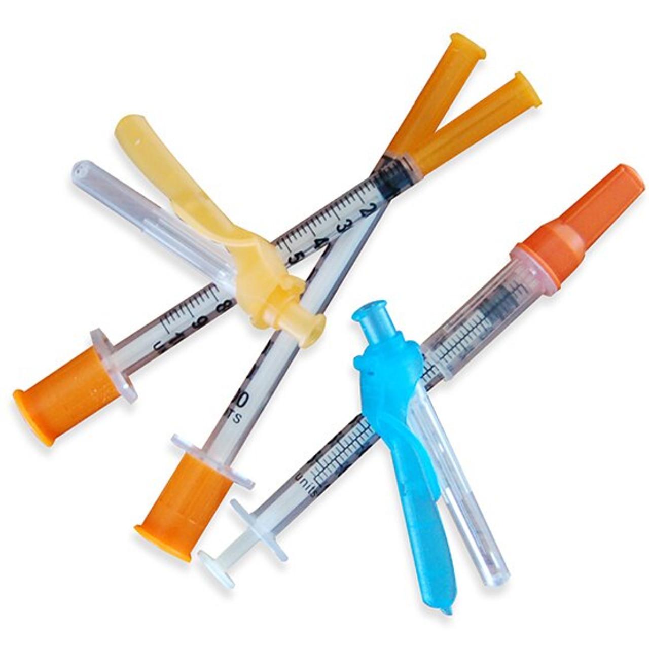 """Insulin Syringe with Safety Needle, 31G x 1/2"""""""