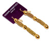 Adami & Martucci Gold Mesh Earrings With Yellow Gold Hammered Beads