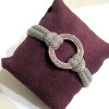 Adami & Martucci Silver Mesh Bracelet with Rose Gold Circle