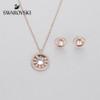 Swarovski Admiration Round White Crystals Set  in Rose Gold