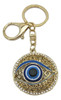 Circle Keychain with Evil Eye Protection