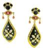 Eye Flower Earrings, Black