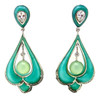 Art Deco Center Drop Earrings