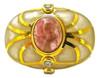 Baroque Circle Ring, White MOP