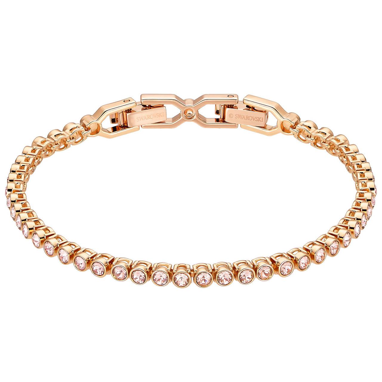 Swarovski Emily Tennis Bracelet, Rose Gold