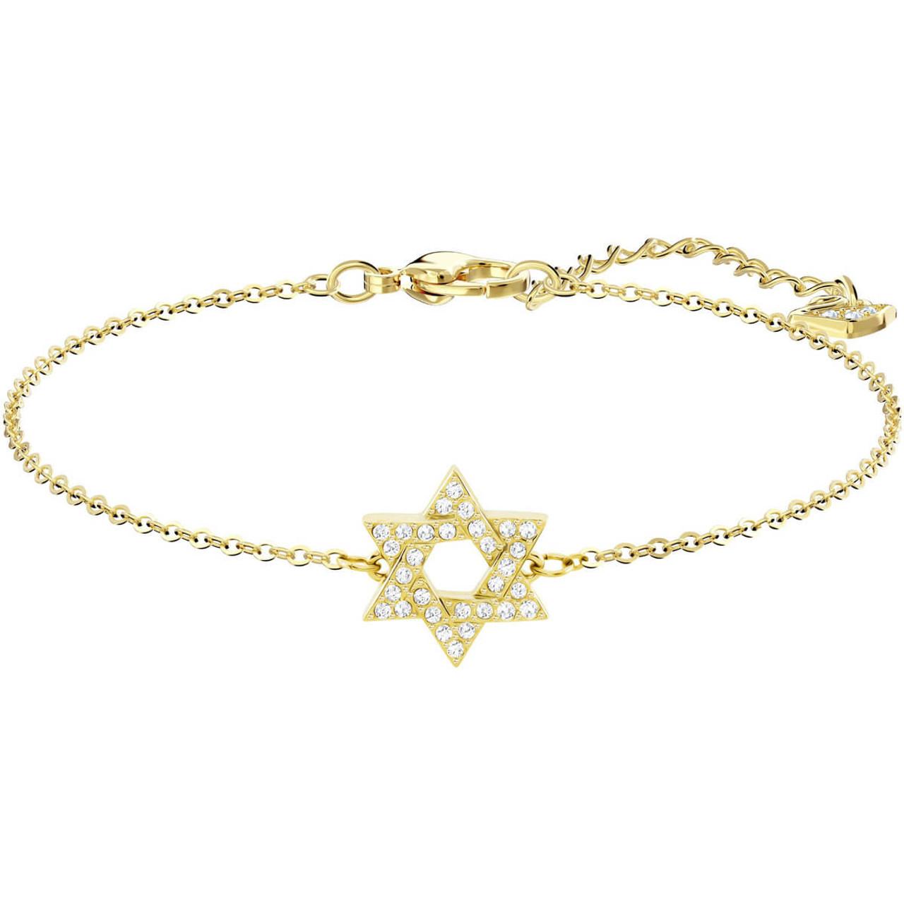 037e8ceb7ac61 Swarovski Star of David Gold Bracelet