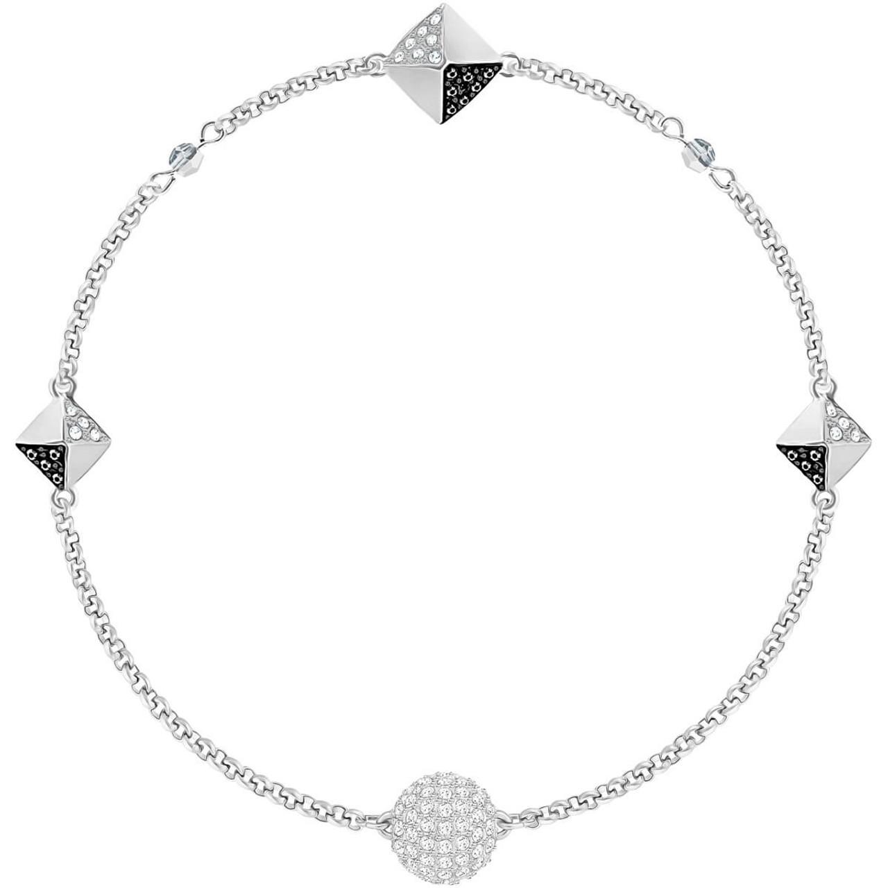 Swarovski Remix Collection Squares Bracelet, Black in Rhodium
