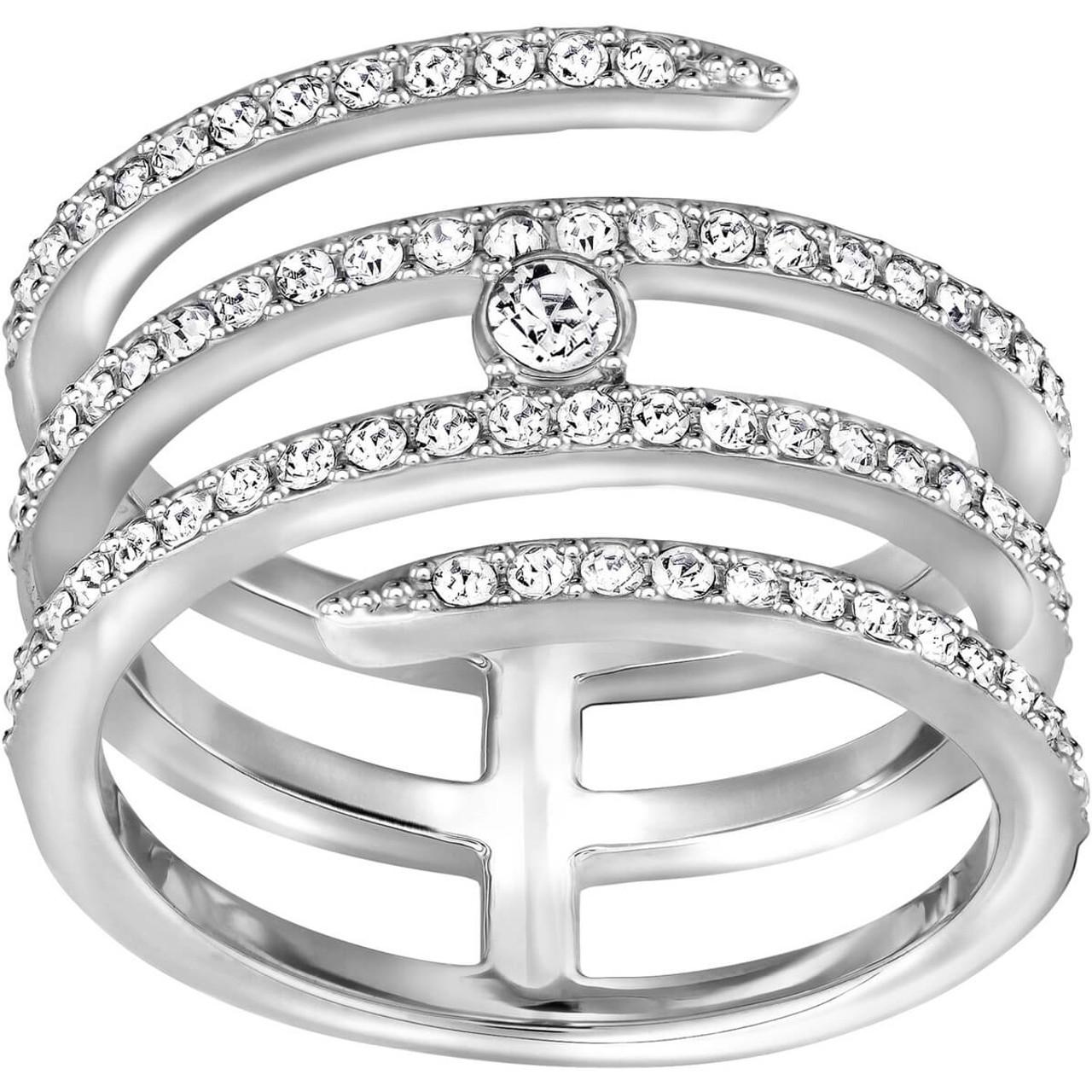 Swarovski Creativity Coiled Silver Ring