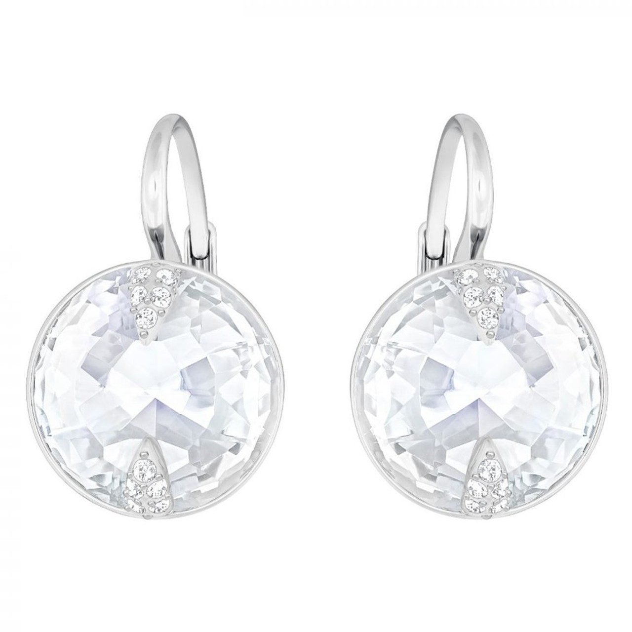 Swarovski Globe Leverback Earrings, White