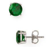 Crislu Stud Earrings, Emerald Quartz CZ