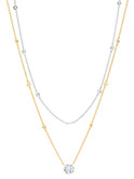 This two-tone chain necklace is a sample ONLY! The real product comes in YELLOW-GOLD only!