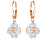 Swarovski Latisha Flower Earrings in Rose Gold