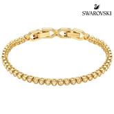 Swarovski Emily Tennis Bracelet, Yellow Gold