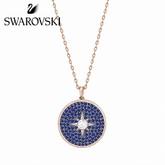 Swarovski Blue Locket Pendant, Rose Gold