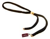 Adami & Martucci Black Mesh Tie Necklace with Gold Buckle
