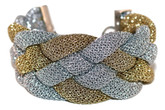 Adami & Martucci Silver and Gold Mesh Braided Bracelet
